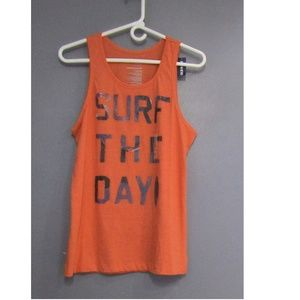 NEW Old Navy Coral Tank Surf The Day Size S